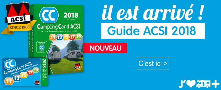 ou acheter la carte acsi Guide ACSI 2018 disponible en magasin